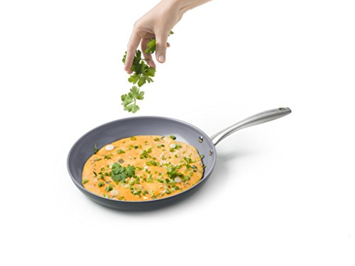 Hard anodized frying pan