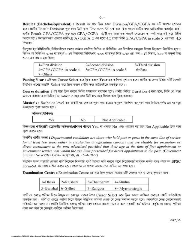 BPSC Job Application Process