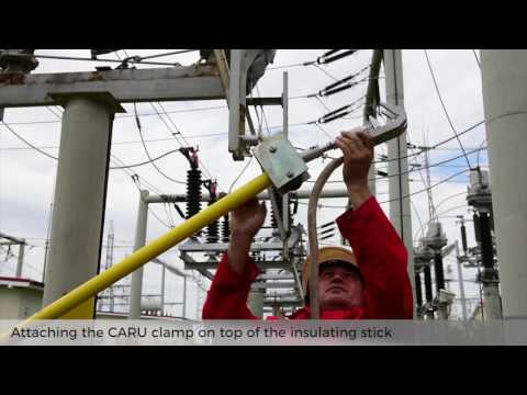 VIDEO:  How to apply the earthing device in HV/MV substations with guidance device for insulating sticks