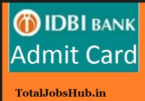 idbi-bank-executive-admit-card
