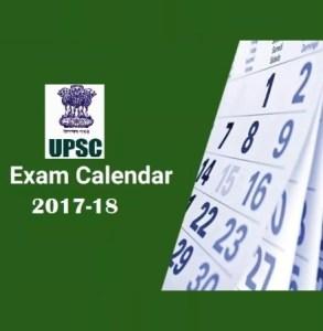 upsc exam calendar 2017-18