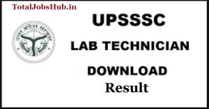 upsssc-lab-technician-result