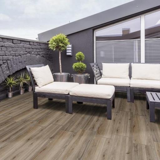 outdoor slabs wood ebony patio tiles 20mm 60 x 60 cm