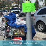 Only in LA: A Homeless Man Holds a Moving Sale