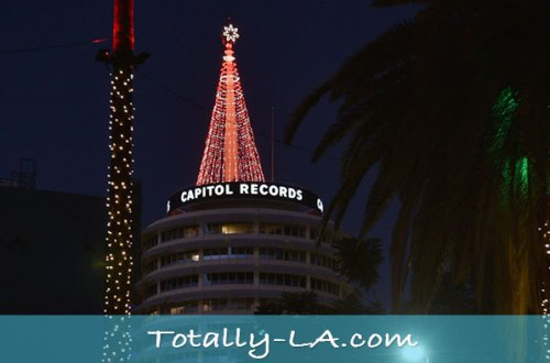 Capitol Records christmas Tree