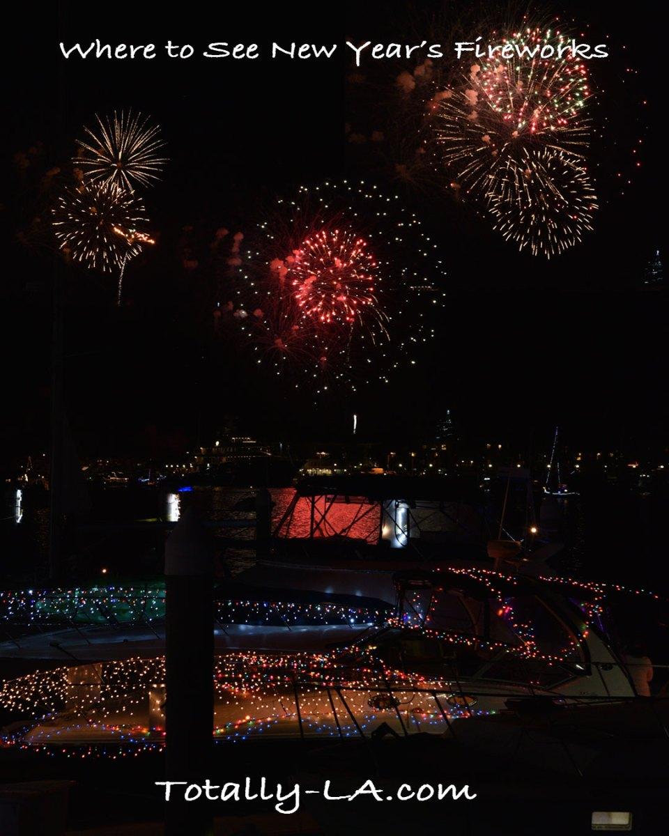 watch fireworks Los Angeles