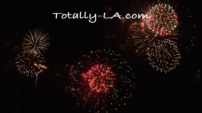 LA new year's eve fireworks