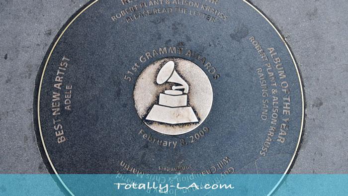 Grammy Walk of Fame at LA Live