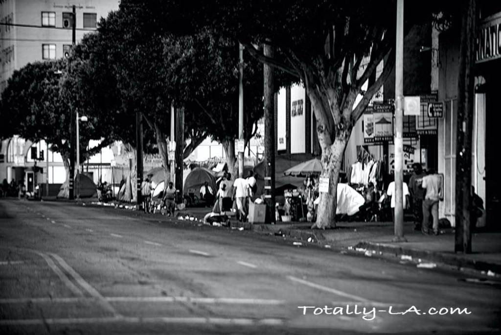 Skid Row in Los Angeles