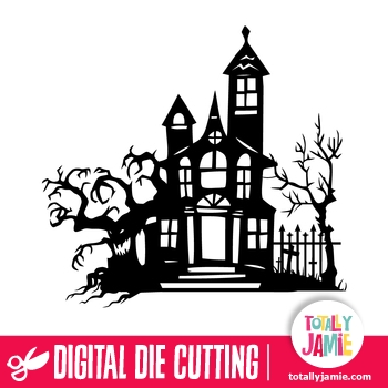 Halloween Spooky Manor TotallyJamie SVG Cut Files