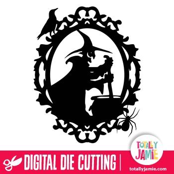 Halloween Witch Brew Oval Frame TotallyJamie SVG Cut