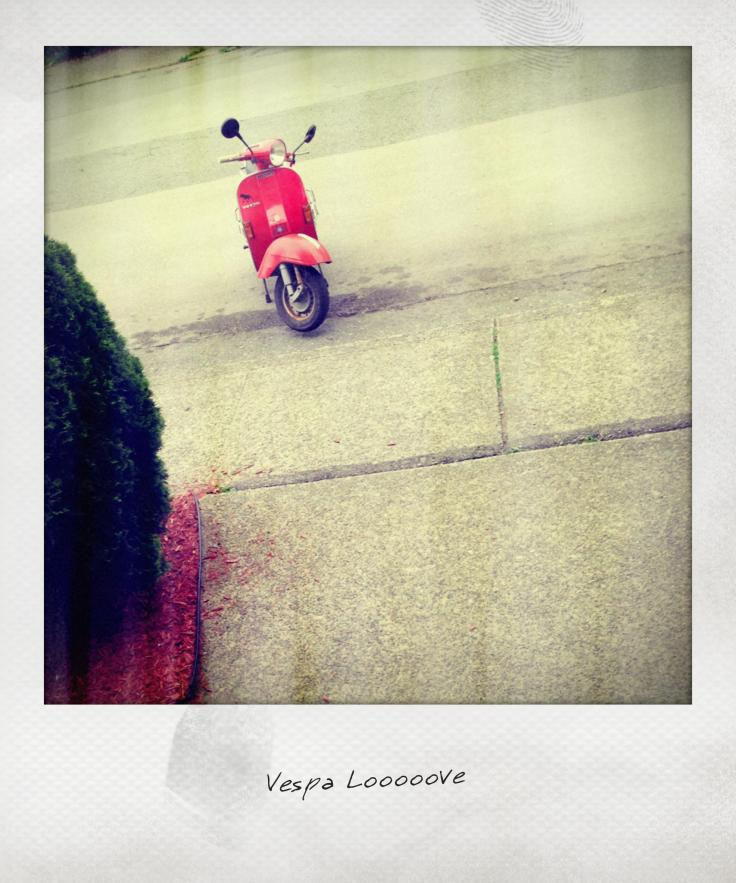 one day i may still get a vespa and take my life in my hands on the mean streets