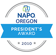NAPO Oregon Presidents Award 2010 logo