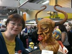 Jacqui Kelly - Totally Sugar - Custom Cake Kronos in Chocolate and Marzipan Wins Gold Medal at Cake International NEC, ICHF