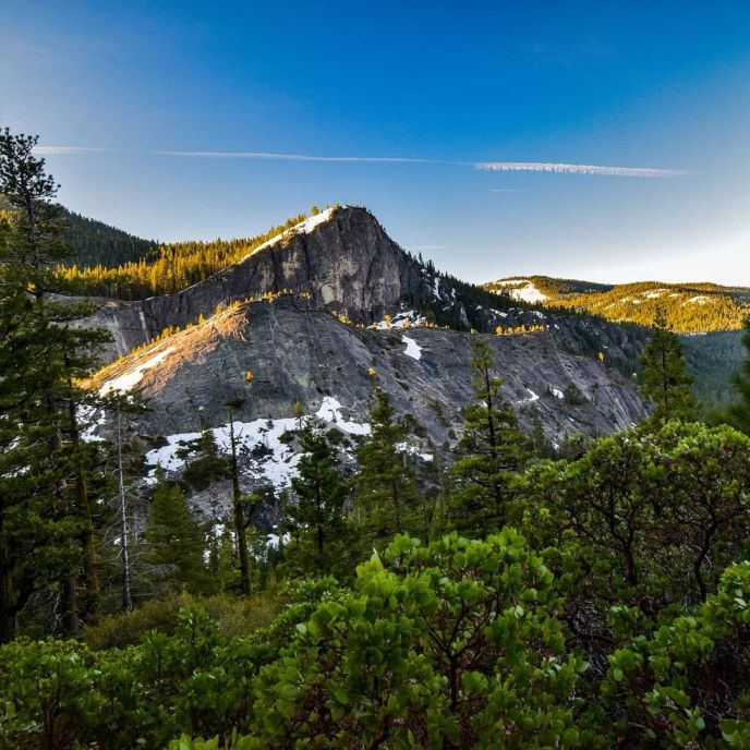 Lovers Leap basks in the morning sun. It's almost climbing season in the High Sierra again!