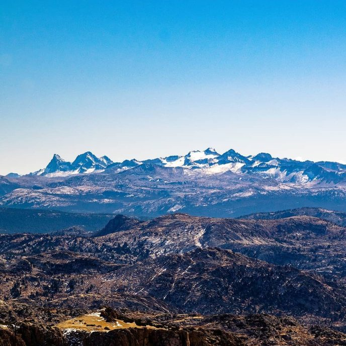 The ceiling of Yosemite: Banner Peak and Mts Ritter, Lyell and McClure.