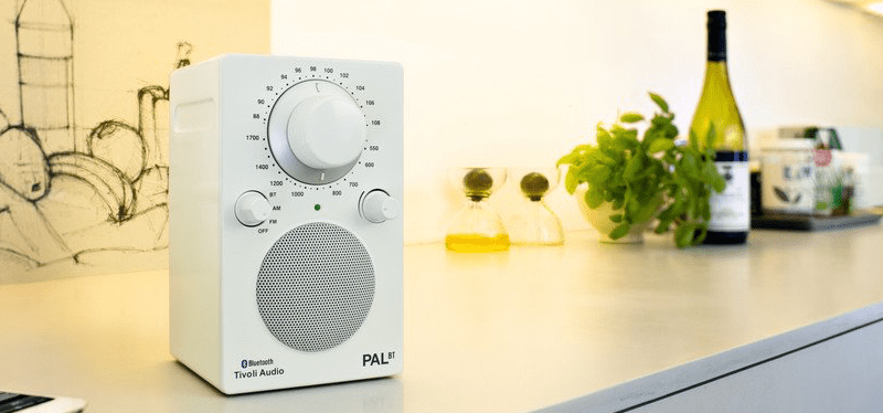 Tivoli Audio PAL BT radio in satin white from Totally Wired
