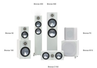 Monitor Audio Bronze 6G loudspeaker range in white@totallywired.nz