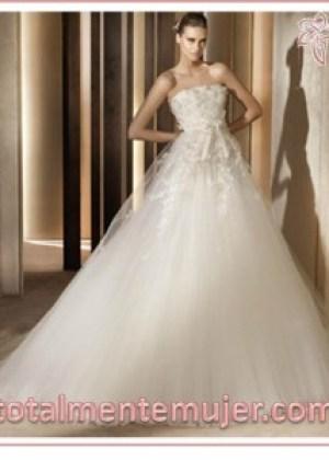 elegante vestido de novia boda