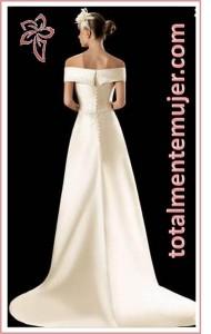 vestido de novia escote barco