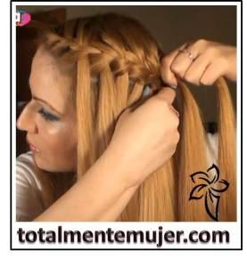 peinado trenza de cascada