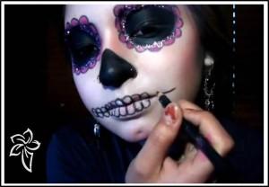 maquillaje aterrador halloween