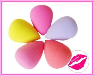 esponjas cosmeticas en forma de huevo