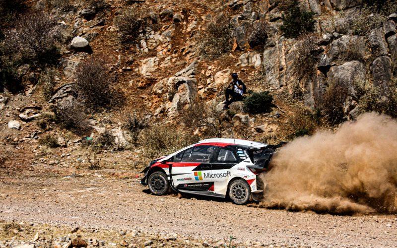 Ott Tanak Testing Toyota Yaris WRC In Rally Acropolis Stage 2019