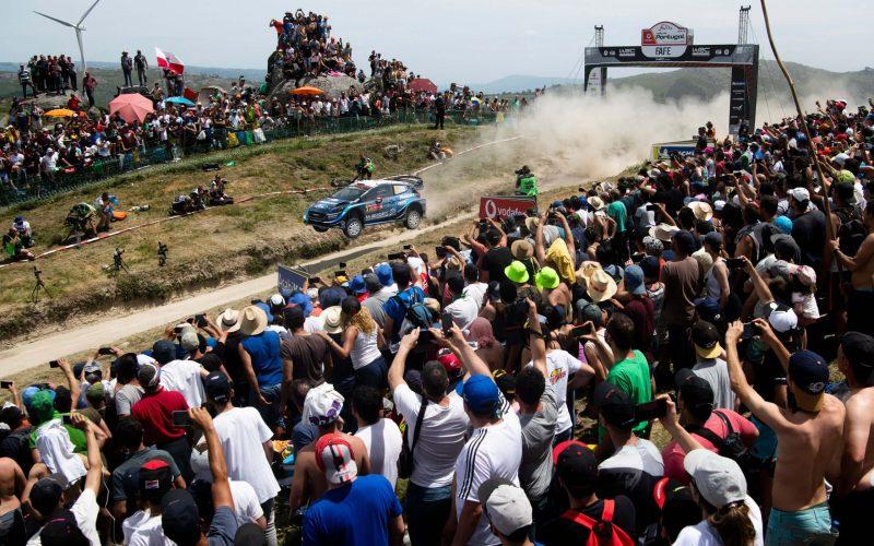 Teemu Suninen Ford Fiesta WRC Rallly Portugal Fafe Jump