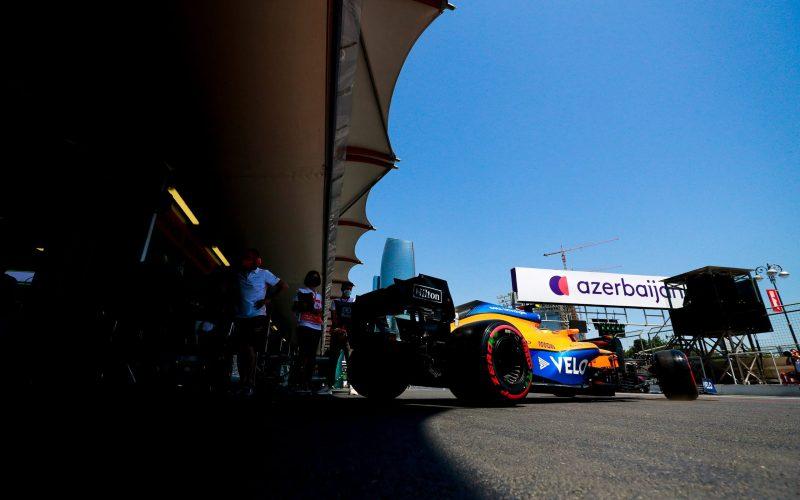 Lando Norris McLaren Azerbaijan GP 2021 Qualifying Penalty
