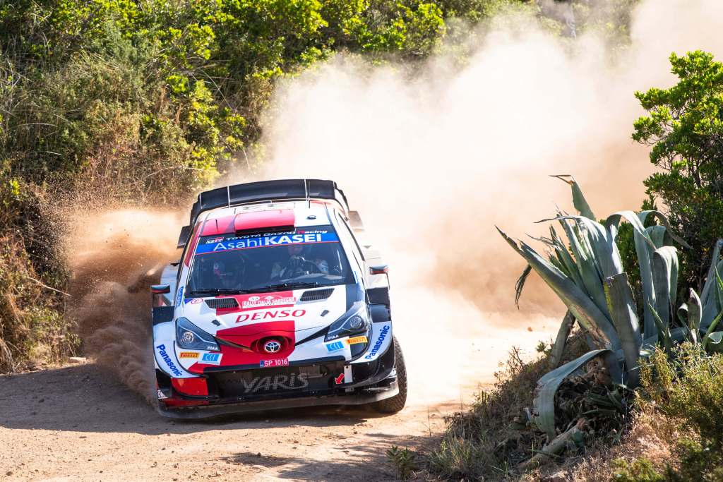 Elfyn Evans Toyota Yaris WRC Rally Italia Sardegna 2021 2nd place