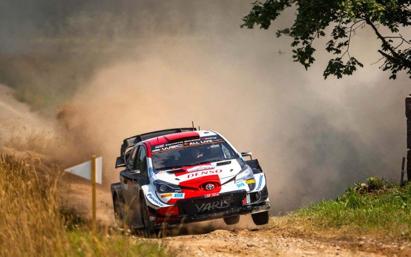 Kalle Rovanpera Rally Estonia 2021 Day 1 Toyota Yaris WRC