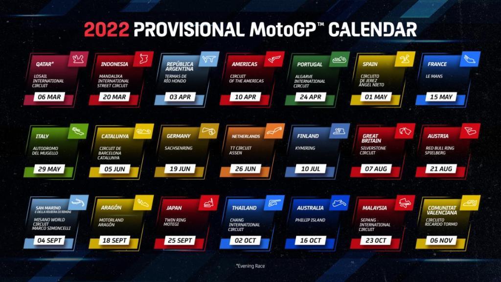 πρόγραμμα MotoGP 2022