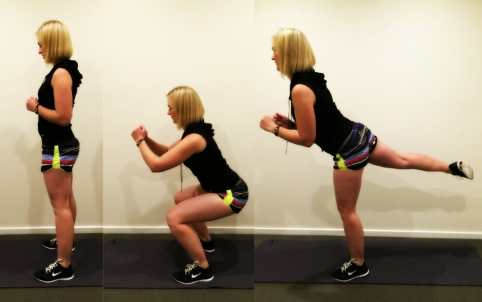 Image result for Squats with Kickbacks exercise