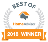 "2018 Winner of ""Best of HomeAdvisor"" award"