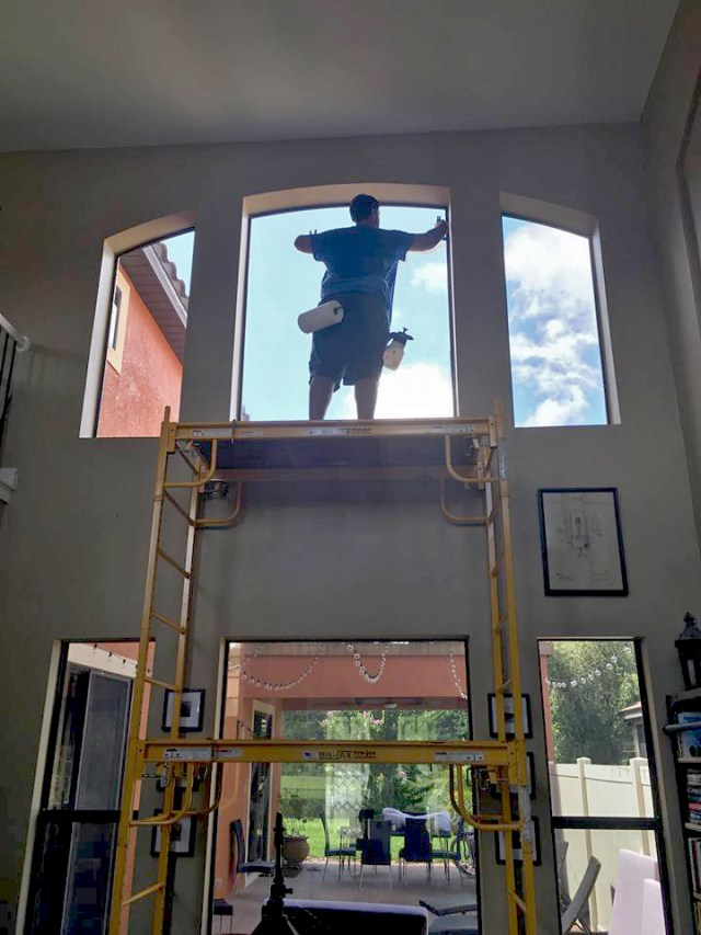 Solar Film, Hard to Reach Windows