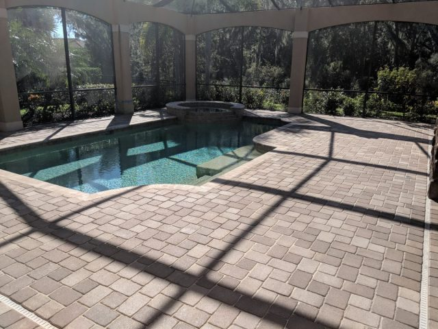 Sealed Pool Paver Bricks