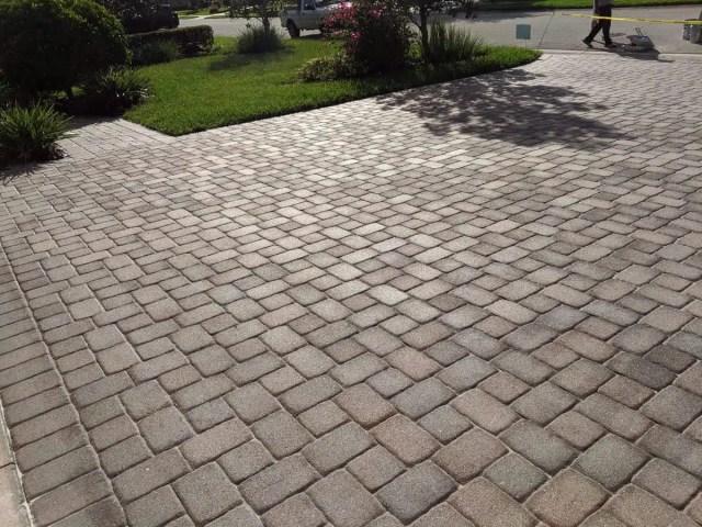 Sealed Paver Brick Driveway