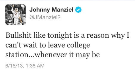 Johnny Football Tweet