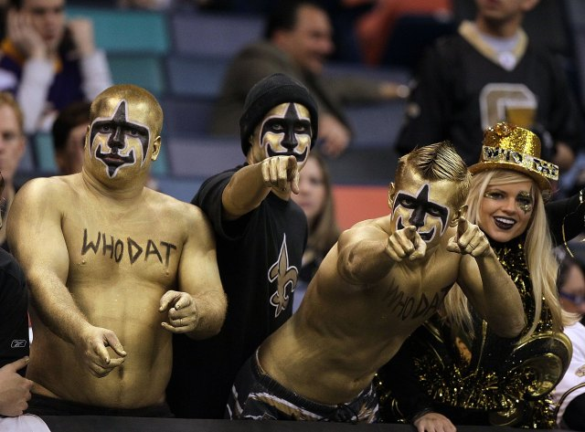 Saints fans or Juggalos? Both? I'm not sure