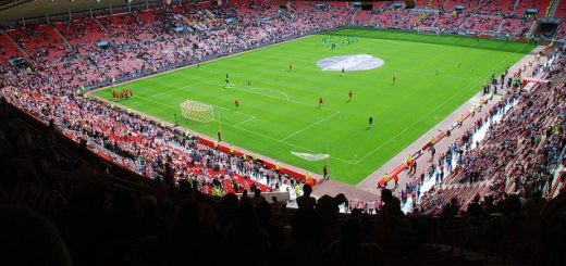 An interior shot of the Stadium of Light, home of Sunderland AFC.
