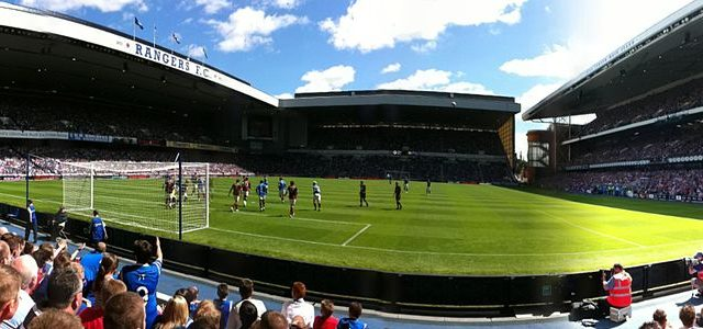Ibrox Stadium, home of Scottish Premiership side Rangers