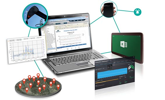 Oil and gas production software integrated