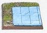 R00FB415 - 40mm square base (paved corner)