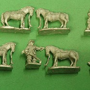 ECW12 Dragoons Dismounted, with horses