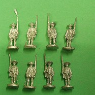 HI21 British East India Company Infantry in round hat, 1750-65