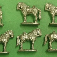MEX15a US Volunteer Cavalry Horse Holder & 5 Horses