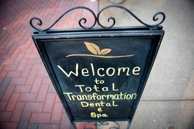 Total Transformation Dental and Spa Front Sign