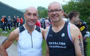 John Bellamy and Steven Smith before the race