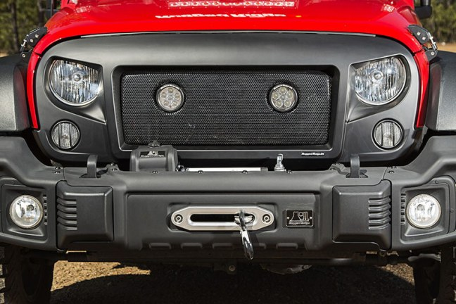 Rugged Ridge (12034.13): Spartan Grille LED Insert with Dual 3.5-Inch LEDs for '07–'16 JK